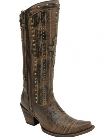 Corral Boots® Ladies' Crystal Cross Stripes Boot