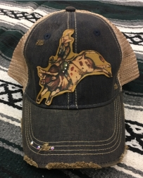 XOXO Art & Co® Ladies' Distressed Bull Rider hat