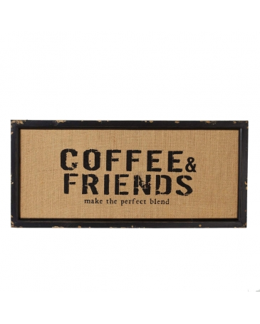 """Coffee & Friends"" Wall Decor"