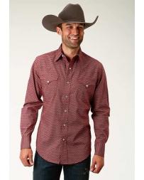 Roper® Men's Long Sleeve Snap Print Shirt