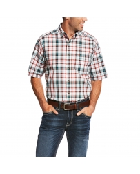 Ariat® Men's Pro Series Short Sleeve Plaid Shirt - Big & Tall