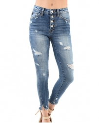 Kancan® Ladies' 5 Button Ankle Skinny