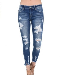 Kancan® Ladies' Heavy Destruction Vent Leg Jean
