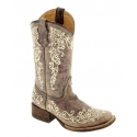 Corral Boots® Ladies' Brown Crater Bone Embroidery
