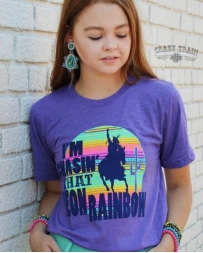 Crazy Train® Ladies' Neon On Rainbow Top