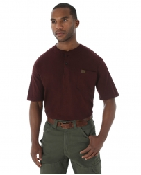 Riggs Workwear® by Wrangler® Men's Short Sleeve Henley- Big
