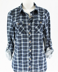 Just 1 Time® Ladies' Navy and Blue Flannel