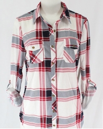 Just 1 Time® Ladies' COA Navy Red White Flannel