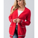 Just 1 Time® Ladies' Striped Outline Knitted Cardigan