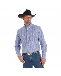 George Strait® Men's Long Sleeve Plaid Shirt