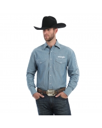 Wrangler® Men's Long Sleeve Chambray Logo Shirt - Tall