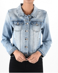 Kancan® Ladies' Light Wash Denim Jacket