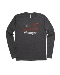 Wrangler® Men's Long Sleeve Flag Logo Tee