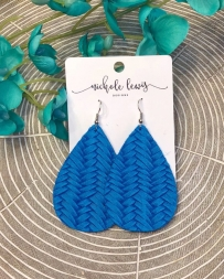 Nichole Lewis® Ladies' True Blue Braided Classic Earrings