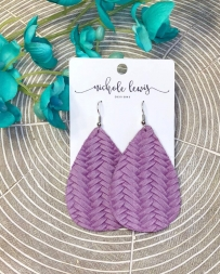Nichole Lewis® Ladies' Purple Braided Earrings