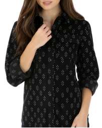 Wrangler® Ladies' Long Sleeve Button Up