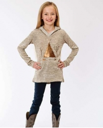 Roper® Girls' Tee Pee Hooded Sweater