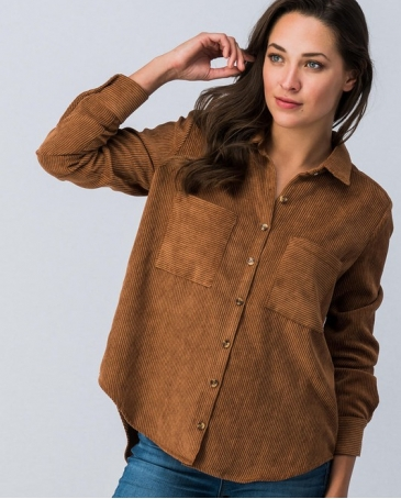 Ladies' Button Dwon Corduroy Shirt