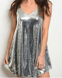 Just 1 Time® Ladies' V Neck Sequin Dress