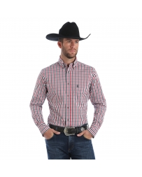 Wrangler® Men's Performance Long Sleeve Plaid Shirt