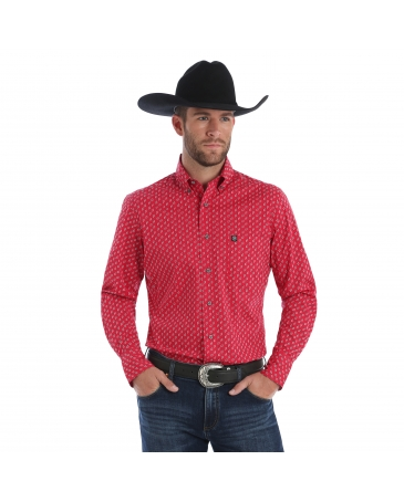 Wrangler® Men's Performance Long Sleeve Print Shirt - Tall