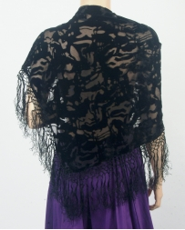 Kathy Jolly® Ladies' Black Velvet Shawl