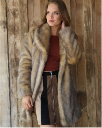 Angie® Ladies' Yellow Stone Fur Jacket