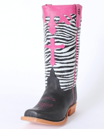 Anderson Bean® Girls' Zebra Top Boots - Child