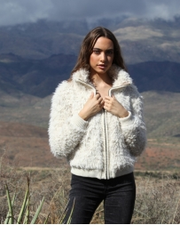 Angie® Ladies' Furry Bomber Jacket
