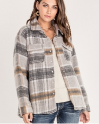 Miss Me® Ladies' Wool Plaid Jacket