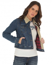 Wrangler® Ladies' Flannel Lined Sherpa Jacket
