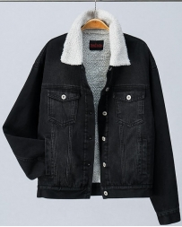 Ladies' Faux Shearling Wash Denim Jacket