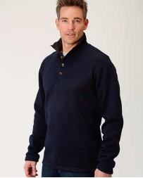 Stetson® Men's Henley Sweater Navy