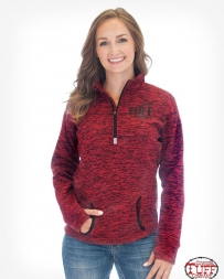 Cowgirl Tuff® Ladies' 3/4 Neck Fleece Zip Up