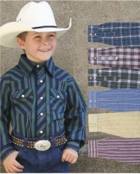 Wrangler® Boys' Assorted Western Snap Plaid Shirts