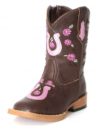 Roper® Girls' Floral Embroidered Western Boots - Toddler