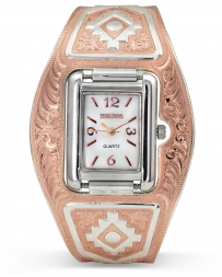 Montana Silversmiths® Ladies' Aztec Rose Two Tone Watch Cuff