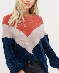 Listicle® Ladies' Color Block Sweater