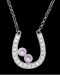 Montana Silversmiths® Ladies' CZ Horseshoe Necklace
