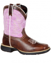 Durango® Girls' Little Rebel Square Toe Boot