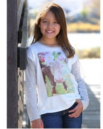 Cruel® Girls' Jersey Tee With Cow