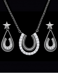 Montana Silversmiths® Ladies' CZ Horshoe & Star Jewelry Set