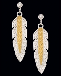 Montana Silversmiths® Ladies' Silver & Gold Feather Earrings