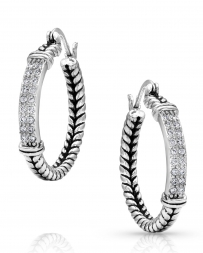 Montana Silversmiths® Ladies' Iced Rope Hoops