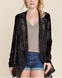 Vocal® Ladies' Velvet Jacket With Lace