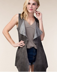 Vocal® Ladies' Suede Vest Ombre Cutout