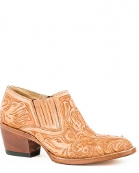Stetson® Ladies' Nina Round Toe Tooled Bootie