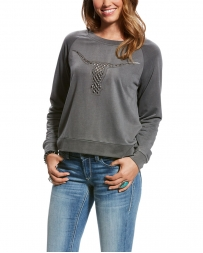 Ariat® Ladies' Agnes Crew Steer Top