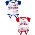 Little 4TH July Diaper Shirt