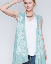 Vocal® Ladies' Greeen Suede Lace Vest